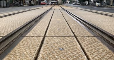 Train tracks in Hiroshima by Ethan Wang