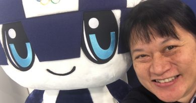 Rose Tanasugarn with Olympic Mascot