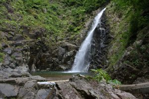 One of the waterfalls in eastern Shirakami Sanchi, Anmon Falls. Photo by: Reid Bartholomew
