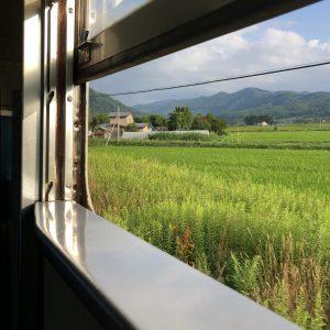 July - Train ride across Hokkaido