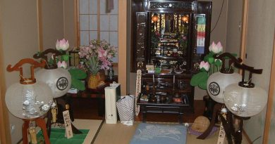 A traditional butsudan, a Buddhist altar, in a JTE's home in Matsumoto
